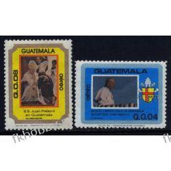 Gwatemala 1984 Mi 1238-39 ** Jan Paweł II Papież Druk wklęsły