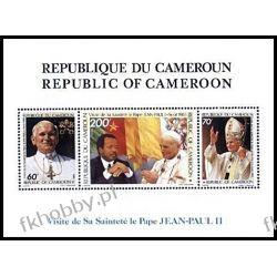 Kamerun 1985 Mi BL 24 ** Jan Paweł II Papież Polonica