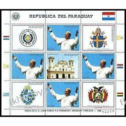 Paragwaj 1988 Mi ark 4216 ** Jan Paweł II Papież Polskie