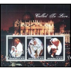 Benin 2003 ** Jan Paweł II Diana Matka Teresa 9  Polonica