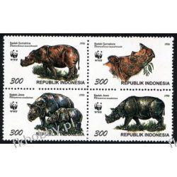 Indonezja 1996 Mi 1648-51 ** WWF Nosorożec Owady