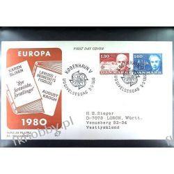 Dania 1980 FDC 699-00 Europa Cept Nobel Całości i całostki