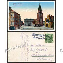 Kraków 1912 Pocztówka Wieża Ratuszowa obieg 1 Kolejnictwo