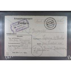Poczta Obozowa Oflag IID Grossborn 1944 Kriegsgefangenenpost k18a Pozostałe