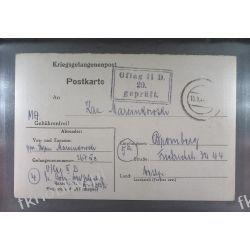 Poczta Obozowa Oflag IID Grossborn 1944 Kriegsgefangenenpost k20a Pozostałe