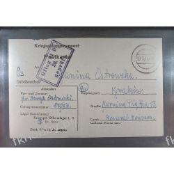Poczta Obozowa Oflag IID Grossborn 1944 Kriegsgefangenenpost k20f Druk wklęsły