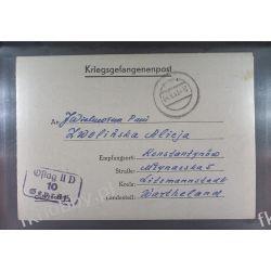 Poczta Obozowa Oflag IID Grossborn 1943 Kriegsgefangenenpost l10e Marynistyka