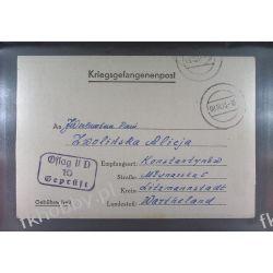 Poczta Obozowa Oflag IID Grossborn 1943 Kriegsgefangenenpost l10h Ptaki