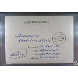 Poczta Obozowa Oflag IID Grossborn 1943 Kriegsgefangenenpost l10i Pozostałe