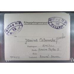 Poczta Obozowa Oflag IID Grossborn 1942 Kriegsgefangenenpost l12 Polonica