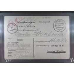 Poczta Obozowa Oflag VIE Dorsten 1941 Kriegsgefangenenpost k10 Pozostałe