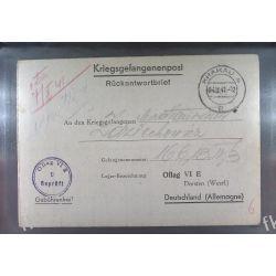 Poczta Obozowa Oflag VIE Dorsten 1941 Kriegsgefangenenpost l9a Druk wklęsły