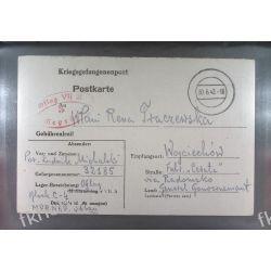 Poczta Obozowa Oflag VIIA Murnau 1942 Kriegsgefangenenpost k5c Dokumenty