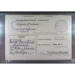 Poczta Obozowa Oflag VIIA Murnau 1941 Kriegsgefangenenpost k7a Marynistyka