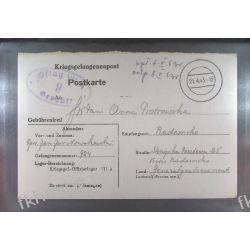 Poczta Obozowa Oflag VIIA Murnau 1943 Kriegsgefangenenpost k9 Druk wklęsły