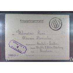 Poczta Obozowa Oflag VIIA Murnau 1942 Kriegsgefangenenpost l4 Pozostałe