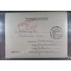Poczta Obozowa Oflag VIIA Murnau 1943 Kriegsgefangenenpost l17 Kolejnictwo