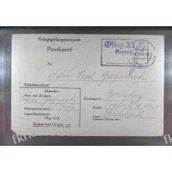 Poczta Obozowa Oflag XIB Braunschweig 1940 Obóz Wojsko Wojna k10 Druk wklęsły