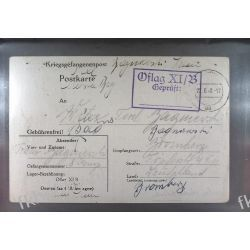 Poczta Obozowa Oflag XIB Braunschweig 1940 Obóz Wojsko Wojna k11 Marynistyka