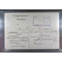 Poczta Obozowa Oflag XIB Braunschweig 1940 Obóz Wojsko Wojna k14 Harcerstwo i Skauting