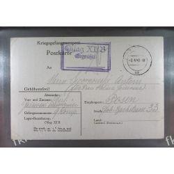 Poczta Obozowa Oflag XIB Braunschweig 1940 Obóz Wojsko Wojna k15 Ptaki