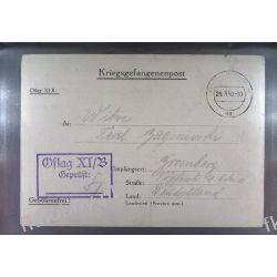 Poczta Obozowa Oflag XIB Braunschweig 1940 Obóz Wojsko Wojna l1 Pozostałe