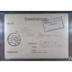 Poczta Obozowa Oflag XIB Braunschweig 1940 Obóz Wojsko Wojna l2 Pozostałe