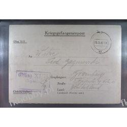 Poczta Obozowa Oflag XIB Braunschweig 1940 Obóz Wojsko Wojna l4 Ssaki