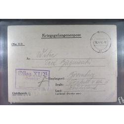 Poczta Obozowa Oflag XIB Braunschweig 1940 Obóz Wojsko Wojna l6 Liechtenstein
