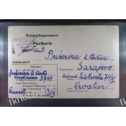 Poczta Obozowa Oflag XIIIB Hammelburg 1944 Obóz Wojsko Wojna K7 Ssaki