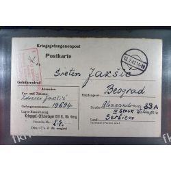 Poczta Obozowa Oflag XIIIB Nurnberg 1942 Obóz Wojsko Wojna k2a Pozostałe