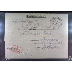 Poczta Obozowa Oflag XXIC Schokken 1942 Obóz Wojsko Wojna l1a Polskie