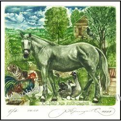Kirnitskiy Sergey 2000 Exlibris C4 Horse Pferd Dog Pigeon Rooster Animals 16 Antyki i Sztuka