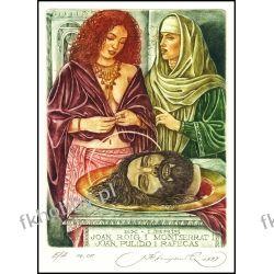 Kirnitskiy Sergey 2000 Exlibris C4 Mythology Salome Erotic Nude John Baptist 24 Antyki i Sztuka