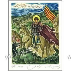 Kirnitskiy Sergey 2000 Exlibris C4 Saint George Jordi Horse Koń Pferd Dragon 22 Antyki i Sztuka