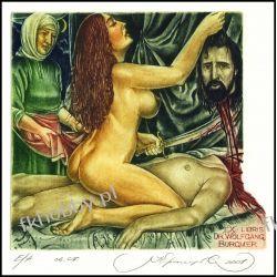 Kirnitskiy Sergey 2001 Exlibris C4 Mythology Judith Holofernes Erotic Nude 34 Antyki i Sztuka