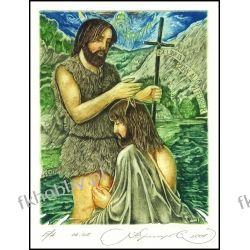 Kirnitskiy Sergey 2001 Exlibris C4 John Baptist Jesus Christ Bible Religion 39 Antyki i Sztuka
