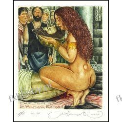 Kirnitskiy Sergey 2002 Exlibris C4 Mythology Salome Erotic Nude John Baptist 47 Antyki i Sztuka