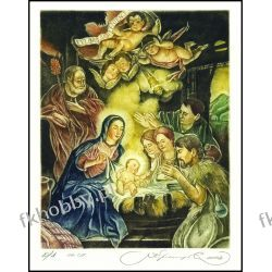 Kirnitskiy Sergey 2002 Exlibris C4 Christmas Noel Jesus Mary Christ Angel 45 Antyki i Sztuka