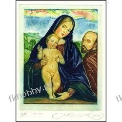 Kirnitskiy Sergey 2004 Exlibris C4 PF Madonna Mary Jesus Christ Religion 77 Antyki i Sztuka