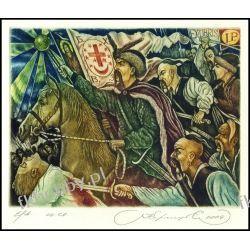Kirnitskiy Sergey 2004 Exlibris C4 Bohdan Khmelnytsky Ukraina Horse Pferd 84 Antyki i Sztuka
