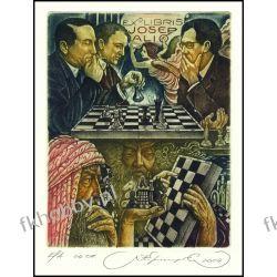 Kirnitskiy Sergey 2004 Exlibris C4 Chess Schach Echecs Scacchi Szachy Erotic 92 Antyki i Sztuka