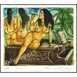Kirnitskiy Sergey 2004 Exlibris C4 Bizet Carmen Music Erotic Nude Piano Opera 90 Antyki i Sztuka