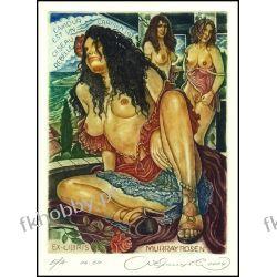 Kirnitskiy Sergey 2004 Exlibris C4 Bizet Carmen Music Erotic Nude Rose Opera 91 Antyki i Sztuka
