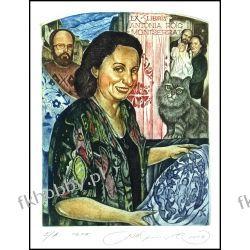 Kirnitskiy Sergey 2004 Exlibris C4 Antonia Roig Montseerrat Cat Katze Kot 79 Antyki i Sztuka