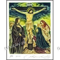 Kirnitskiy Sergey 2004 Exlibris C4 Crucifixion Jesus Christ Mary Magdalene 86