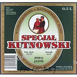 Polska Browar Ciechanów Etykieta Specjał Kutnowski 66.1 Birofilistyka