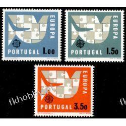 Portugalia 1963 Mi 948-50 ** Europa Cept Ptaki Polonica
