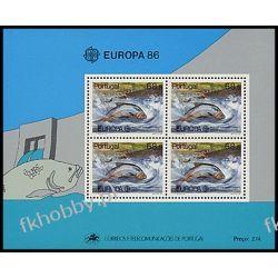 Portugalia 1986 Mi BL 50 ** Europa Cept Ryba Ryby