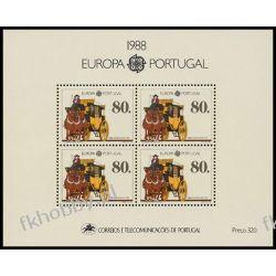 Portugalia 1988 Mi BL 57 ** Europa Cept Transport Konie Pozostałe